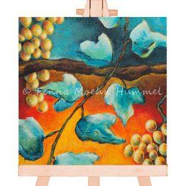 Miniatuurschilderij Bijbels, druiven en wijnrank Atelier for Hope Doetinchem kunst kado artikel