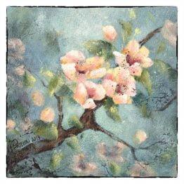 Kaart van schilderij Bloesem Atelier for Hope Doetinchem
