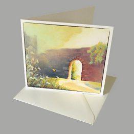 schilderij kaart De Burcht, poort van licht Atelier for Hope Doetinchem