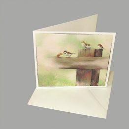 Bijbelse kaart Kijk naar de musjes Atelier for Hope kaarten van schilderijen Christelijk