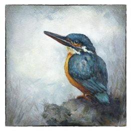 Kunstkaart IJsvogeltje schilderij Atelier for Hope Doetinchem
