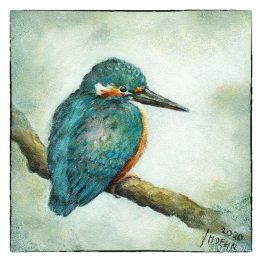 Kunstkaart schilderij Ijsvogeltje Atelier for Hope Doetinchem